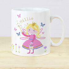 Personalised Fairy Plastic Mug Baby Girl Toddler Gifts 1st Birthday Cup Pink