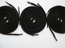 3 Pairs Laces Strong Round 100cm black - For canvas trainer skater Vans