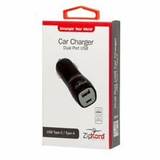 New OEM ZipKord Car Charger Adapter For All USB-A & Type-C Cable