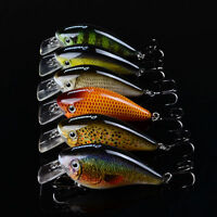High Quality 6pcs Lot Fishing lures Crank Bait 7.5cm/12.8g Crankbait Treble Hook