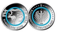 5 x 5 Euro 2020 Subpolare Zone mit Polymer türkis Komplettsatz A D F G J in st