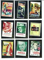 Hammer Horror Series 1 Complete 9 Card Movie Poster Gold Foil Chase Set F1 to F9