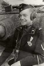 WW2 Photo WWII  German Panther Tank Driver Pzkpfw World War Two Wehrmacht / 2468