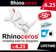 New listing Rhino ceros 3D Modeling v6.25 â� Mac & Win â� Pre-Activated â� fast delivery
