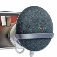 Power Plug Mount for Google Home Mini, Google Home Mini Bracket - Tiny, Silver