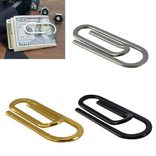 Mens Oversized Paper Money Clip Stainless Steel Silver Card Cash Slim Wallet