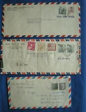 Korean Postal Covers Business and Air Mail Covers to Usa 9 Covers 11 Photo's
