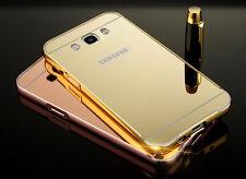 Samsung Galaxy J3 2016 Mirror Aluminium Metal Aluminium Bumper Case Casing Cover