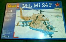 Revell-Germany MIL MI 24F  HIND - Plastic Model Helicopter Kit - 1/144 Scale