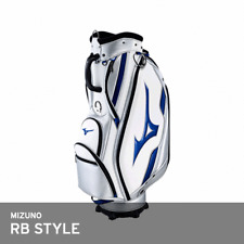 Mizuno 2018 RB Style Men's Caddie Bag Cart 9.5In 4Kg 5-Way PU EMS White/Silver