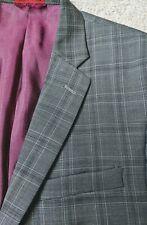 Alfani Red Gray Plaid Suit Jacket Mens S44 Slim Fit 31in Sleeve
