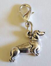 Dachshund Pet Weiner Dog Dangle Bead for European Charm Bracelet Necklace #2