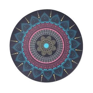 Mandala Design Mouse Pad Desk Mat Round Navy Blue Pink Beige 8 5/8 inch Diameter