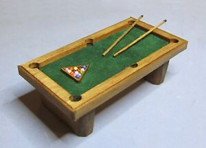 "1/2"" Scale Pool table kit laser cut and designed by sdk miniatures LLC NEW!"