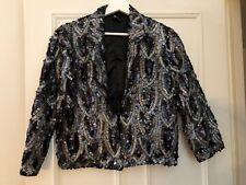 Topshop Sequin Jacket, Blazer, Size 12