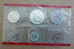 1963 US Denver Mint Franklin Uncirculated 5 Piece Set