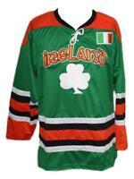 Any Name Number Size Ireland Custom Retro Hockey Jersey Green Lucky 7