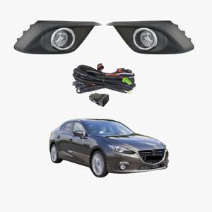 Fog Light Kit for Mazda 3 BM Sedan&HATCH 2014-2017 W/Wiring&Switch