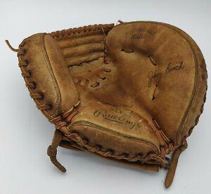 Vintage 70's Johnny Bench Rawlings Baseball Glove MJ57 Catchers Mitt - Nice!