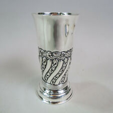 1891 Sterling Silver Vase Repousse Swirl Design