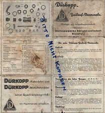 BIELEFELD, Werbung 1910, Nähmaschinen, Fahrräder, Motorwagen DÜRKOPP-WERKE AG