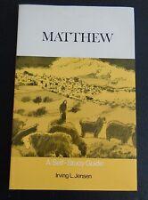 MATTHEW Self Study Guide 1974 Paperback Book NEW Jensen FREE SHIPPING Bible