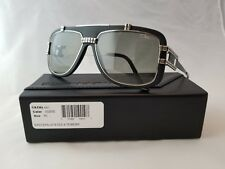 CAZAL VINTAGE MOD. 661/3 COL. 002 MATTE BLACK SILVER SUNGLASSES MADE IN GERMANY
