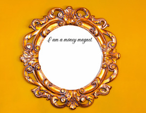 I AM A MONEY MAGNET Vinyl Decal | Positive Affirmations | Mirror & Wall Decal