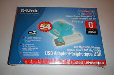 D-Link DWL-G122 Compact Wireless USB Adapter, 802.11g, 54Mbps - Brand New Sealed