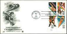 US FDC #2085a Plate Block of 4 Postal Commemorative Society Cachet Los Angles,CA
