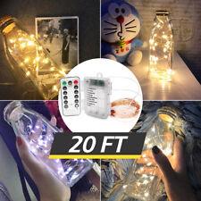 20Ft 6M Chritmas String Fairy Light Party Wedding Decor Light Ir Remote & Timer