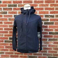 Oakley Men's Polar Fleece FZ Hood Full Zip Sweatshirt Navy MRSP $68-60% OFF Sale