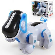 Hot Robotic Cute Electronic Walking Pet Dog Puppy Toy with Music Light for Kids