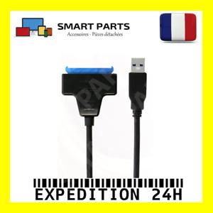 "SATA vers USB 3.0 2.5"" HDD SSD disque dur Disque Converter Câble Adaptateur Bleu"