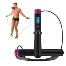 Digital Counting Jump Rope Electronic Calorie Fitness Wireless Skipping Rope USA