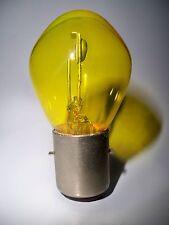 Lampe jaune 6V 45W BA20s 2 ergots plats NEUVE