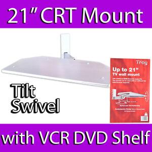 "TROY 21"" CRT OLD STYLE TV WALL MOUNT BRACKET DVD SKY VCR SHELF UNDER 30KG MAX"