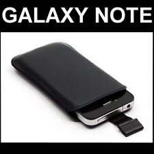 Wallet Cover Case Push Black Leather Samsung GT-i9220 Galaxy Note N7000