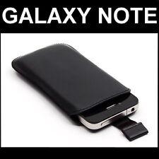 POCHETTE COQUE HOUSSE ETUI PUSH VRAI CUIR NOIR Pr SAMSUNG GT-N7100 GALAXY NOTE 2