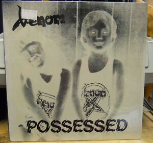 VENOM POSSESSED LP VG++ BLACK METAL COMBAT RECORDS CRONOS GREEN LABEL