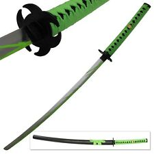 Biohazard Zombie Slayer Toxic Walker Apocalypse Sword Michonne Katana Green