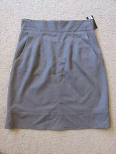 New with Tags Women's Sharagano Gray Knee-Length Seamed Skirt Size 10 CUTE!!!