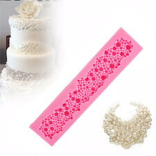 Exquisite Necklace Pearl Lace Silicone Cake Decor Mould Sugar Paste Craft Molds