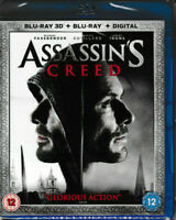 Assassin's Creed - 3D Blu Ray + Blu Ray + Digital - Brand New & Sealed