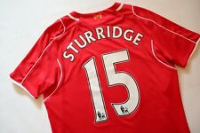 LIVERPOOL 2014/2015 FOOTBALL SHIRT SOCCER JERSEY #15 STURRIDGE WARRIOR BOYS XL
