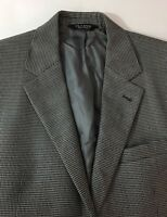 """Jos A Bank 41R Signature Sportcoat Gray Charcoal Houndstooth Wool Mens Chest 42"""""""