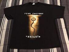Vintage 90s 1998 Fear Factory Obsolete Metal Rock Concert Tour Black Shirt - XL
