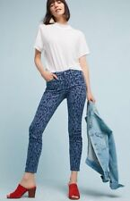 Pilcro Anthropologie Leopard Mid-Rise Skinny Ankle Denim Jeans Size 25 NEW