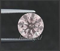 Diamant Brillant mit GIA Zertifikat 0.34 ct, in seltener Farbe rosa, unbehandelt