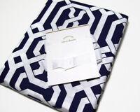 Pottery Barn Multi Colors Navy Blue Terri Full Queen Duvet Cover 2 Standard Sham